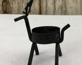 Wrought Iron Reindeer Tea Light Holder