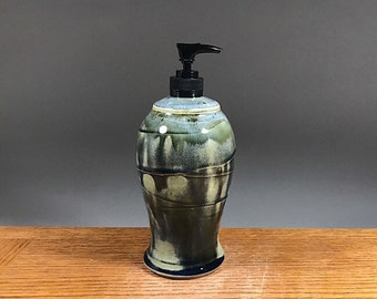 Handmade Liquid Hand Soap Dispenser , Lotion Pump , Soap Dispenser , Pottery Soap  Dispenser , Perfect for Bathroom or Kitchen