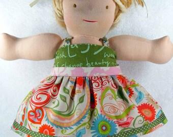 18 inch doll dress, doll pants, 18 inch doll clothes, 10 13 15 inch Waldorf doll, 15 inch bitty babies twin, ruffles girl m2m matilda jane