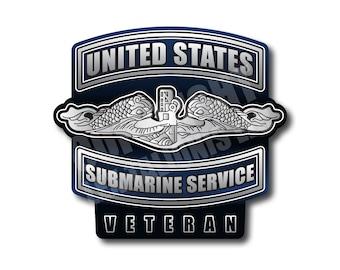 United States Submarine Service Magnet