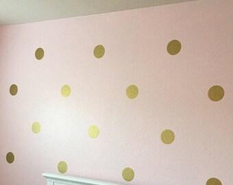Polka Dot Wall Decal Etsy - Wall decals polka dots