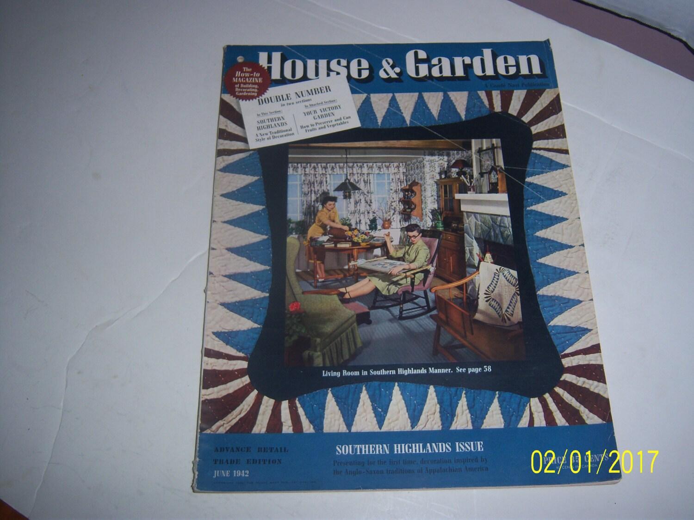 Junio de 1942 casa & jardín revista sección I Living comedor