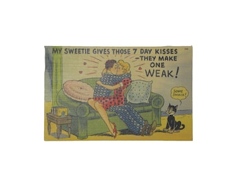 1950's Valentines Sweetheart Post Card / Rockabilly