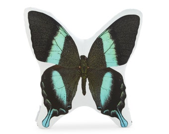 Peacock Swallowtail Butterfly Printed Pillow