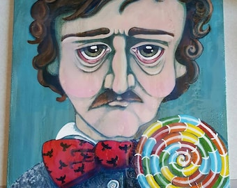 Edgar Allen Poe Lowbrow Gothic Painting Lollipop