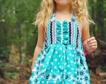 Kids Dress Pattern, pdf sewing pattern, INSTANT DOWNLOAD,Toddler Pattern,  Girls Dress Sewing Pattern, Apron Dress