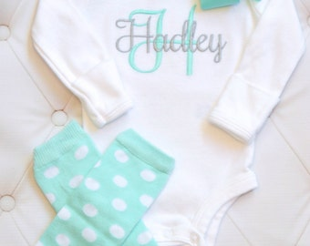 Newborn Girl Coming Home Outfit Baby Girl Coming Home Outfit  Baby Girl Clothes Bay Girl Outfit Baby Girl Gift  Newborn Leg Warmers