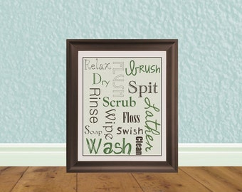 Bathroom Art - Printable Wall Art - Printable Quotations - Instant Downloads - Bathroom Sign - Bathroom Etiquette - Bathroom Rules