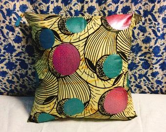 Cushion cover/Housse de Coussin, Afrique tissu WAX/cushion cover, African cloth WAX