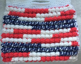 Patriotic or nautical clutch