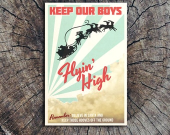 Keep Our Boys Flyin' High // Postcard