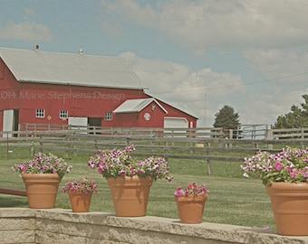 Red Wall Art, Red Barn Canvas, American Barns, Americana Decor, Iowa Barn Print, Red Wall Decor