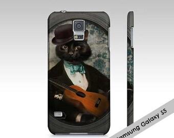 Samsung Galaxy 5/S5 Case iPhone 7 case Cat Art Black Cat Cellphone Case Animal photography Pet Portrait - Felix Fitzpatrick