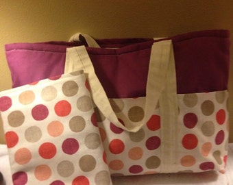 Large Diaper Bag Tote with matching changing pad