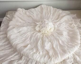 Victorian Winter White Chiffon Commode Set-Shabby Chic-French-Boudoir