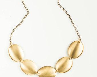 Statement necklace, Pendant necklace, Minimalist necklace, Brass necklace, Gold necklace, Modern necklace, Simple necklace, Choker necklace