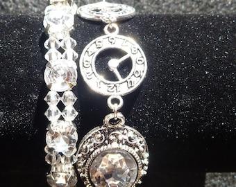 Silver and CZ Bracelet Set