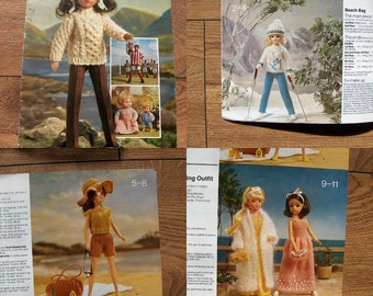 Vintage Knitting patterns DOLL CLOTHES
