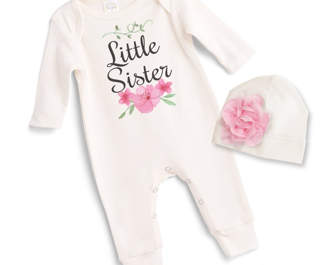 Little Sister Coming Home Outfit, Newborn Sister Hospital Outfit, Baby Little Sister Onesie, Baby Girl Take Home Outfit, Sister Tesa Babe