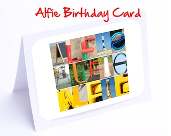 Alfie Personalised Birthday Cards