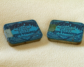 2 EDGEWORTH Pipe Tobacco Tins