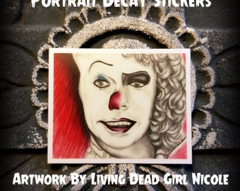"Portrait Art Sticker : ""Penny Furter"" - Stephen King IT Pennywise Franken Furter Rocky Horror Picture Show Tim Curry"
