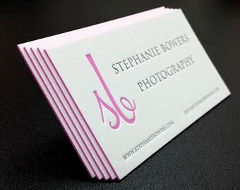 Letterpress business cards 1 colour 1 side color edges letterpress business cards 2 colours 1 side color edges cranes lettra 600gsm 220lb colourmoves