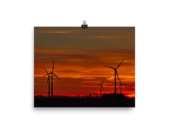 Windmill sunrise, sunrise print, sunrise, windmill, sunrise photograph, windmill photograph,