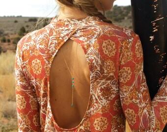 Back Necklace, Back Drop Necklace, Back Chain, Backless Dress Necklace, Body Chain, Back Y Necklace, Gold Necklace, Minimal Gold Necklace
