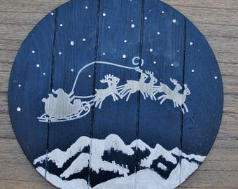 Sleigh Ride / Holiday Wood Sign