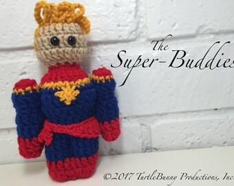 Captain Marvel Superhero Inspired Nerd Crochet