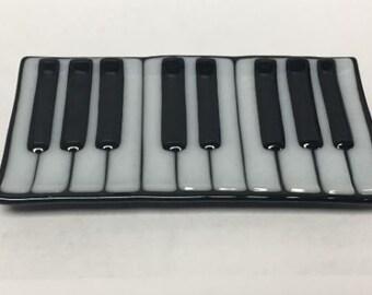 Fused Glass Keyboard Tray/Dish