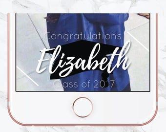 Graduation Snapchat Filter, Graduation Filter, Geofilter, Snapchat Graduation Party, Class of 2017 Filter, Graduation Party Filter, Party