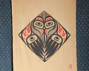 Wings of Raven - Wall Hanging - First nations art