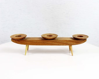 Scandinavian style wooden candle holder