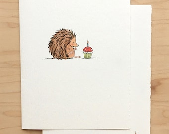 Birthday Card Hedgehog