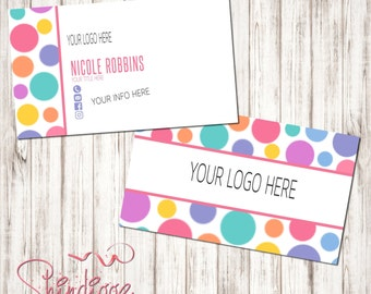 Custom Business Card, Business Card Design, Independent Consultant, Polka Dots, Inspired by LLR