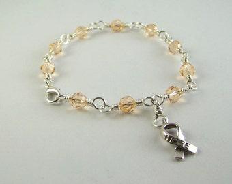 Endometrial Cancer Awareness Bracelet