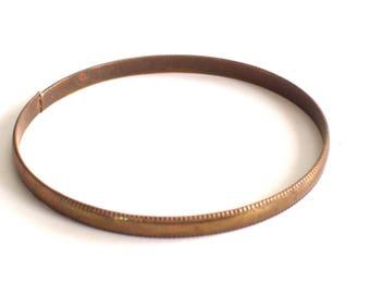 Vintage Brass Bangle, Thin Brass Plated Bangle Bracelet, Textured Bangle, Vintage Bracelet, Stackable Bangle, Brass Jewelry