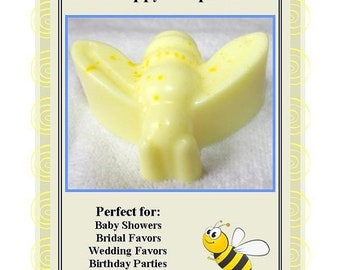 Set of Set of 10 Bumble Bee Soap Favors, Baby Bee Shower Favors, Mother To Bee Favors, Bumble Bee Birthday Party Favors