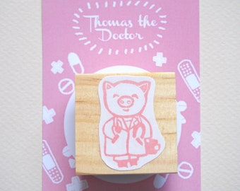 Thomas the Doctor Rubber Stamp