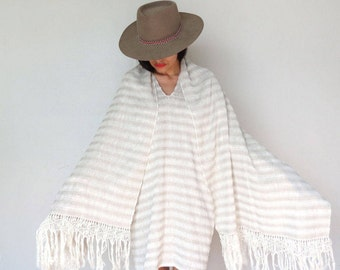 Oaxacan Diamantes Del Valle Rebozo With Fringe / Mexican Handwoven Rebozo / Mexican Shawl / Ethnic Shawl
