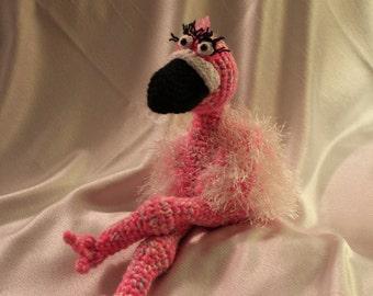 Amigurumi Crochet Pattern - Fiona the Flamingo