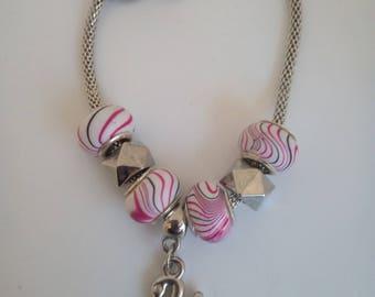Bracelet fancy with Swan charm beads