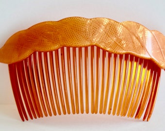 Vintage Plastic Hair Comb Larger Sized 1980's Hair Fashion