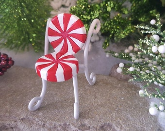 Miniature Candy Cane Peppermint Chair