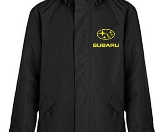 Subaru Quilted Polyester Wind and Water Resistant Winter Jacket