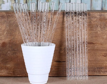 Clear Acrylic Cake Pop Sticks with Champagne Bubbles, Clear Bubble Cake Pop Sticks, Clear Lollipop Sticks, Wedding Cake Pop Sticks
