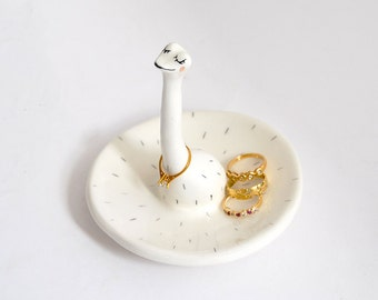 Ceramic Ostrich Ring Dish. Ostrich Jewelry Dish. Wedding Gift. Ceramic Ring Holder. Ready To Ship
