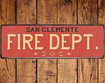 San Clemente Fire Dept. Vintage Look Metal Sign Chic Decor Retro 6184771